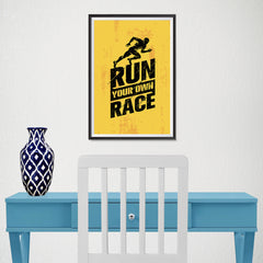 Ezposterprints - Race | Gym Inspiration Motivation Quotes - 12x18 ambiance display photo sample