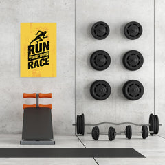 Ezposterprints - Race | Gym Inspiration Motivation Quotes - 24x36 ambiance display photo sample