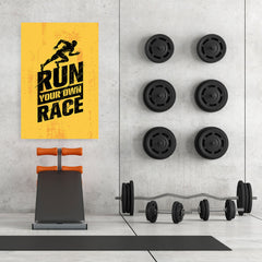 Ezposterprints - Race | Gym Inspiration Motivation Quotes - 32x48 ambiance display photo sample