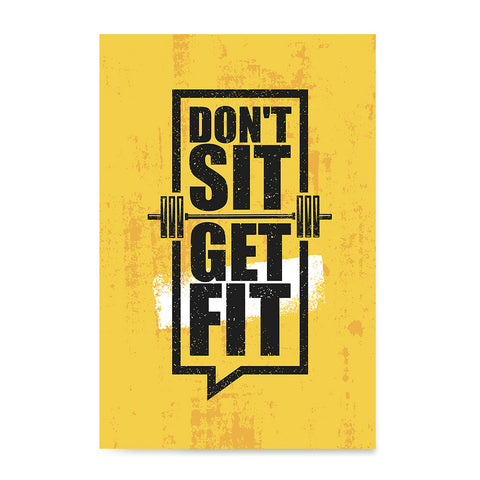 Ezposterprints - Get Fit | Gym Inspiration Motivation Quotes