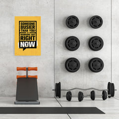 Ezposterprints - Right Now | Gym Inspiration Motivation Quotes - 24x36 ambiance display photo sample