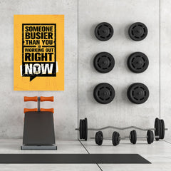 Ezposterprints - Right Now | Gym Inspiration Motivation Quotes - 32x48 ambiance display photo sample