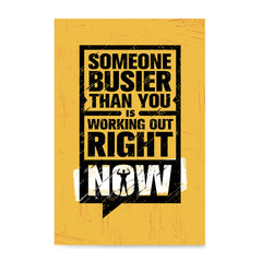 Ezposterprints - Right Now | Gym Inspiration Motivation Quotes