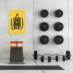 Ezposterprints - Run With Heart | Gym Inspiration Motivation Quotes - 24x36 ambiance display photo sample