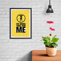 Ezposterprints - For Me | Gym Inspiration Motivation Quotes - 08x12 ambiance display photo sample