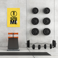 Ezposterprints - For Me | Gym Inspiration Motivation Quotes - 24x36 ambiance display photo sample