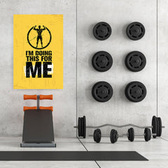 Ezposterprints - For Me | Gym Inspiration Motivation Quotes - 32x48 ambiance display photo sample