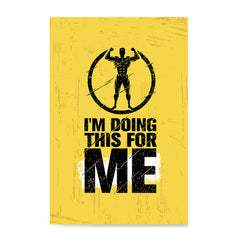 Ezposterprints - For Me | Gym Inspiration Motivation Quotes