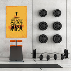 Ezposterprints - Mind | Gym Inspiration Motivation Quotes - 32x48 ambiance display photo sample