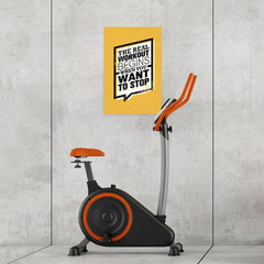 Ezposterprints - real Workout | Gym Inspiration Motivation Quotes - 16x24 ambiance display photo sample