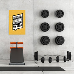 Ezposterprints - real Workout | Gym Inspiration Motivation Quotes - 24x36 ambiance display photo sample
