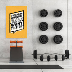 Ezposterprints - real Workout | Gym Inspiration Motivation Quotes - 32x48 ambiance display photo sample