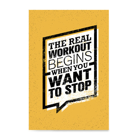 Ezposterprints - real Workout | Gym Inspiration Motivation Quotes