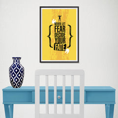 Ezposterprints - Fate | Gym Inspiration Motivation Quotes - 12x18 ambiance display photo sample
