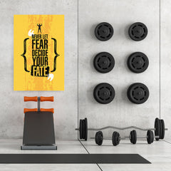Ezposterprints - Fate | Gym Inspiration Motivation Quotes - 32x48 ambiance display photo sample
