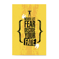 Ezposterprints - Fate | Gym Inspiration Motivation Quotes