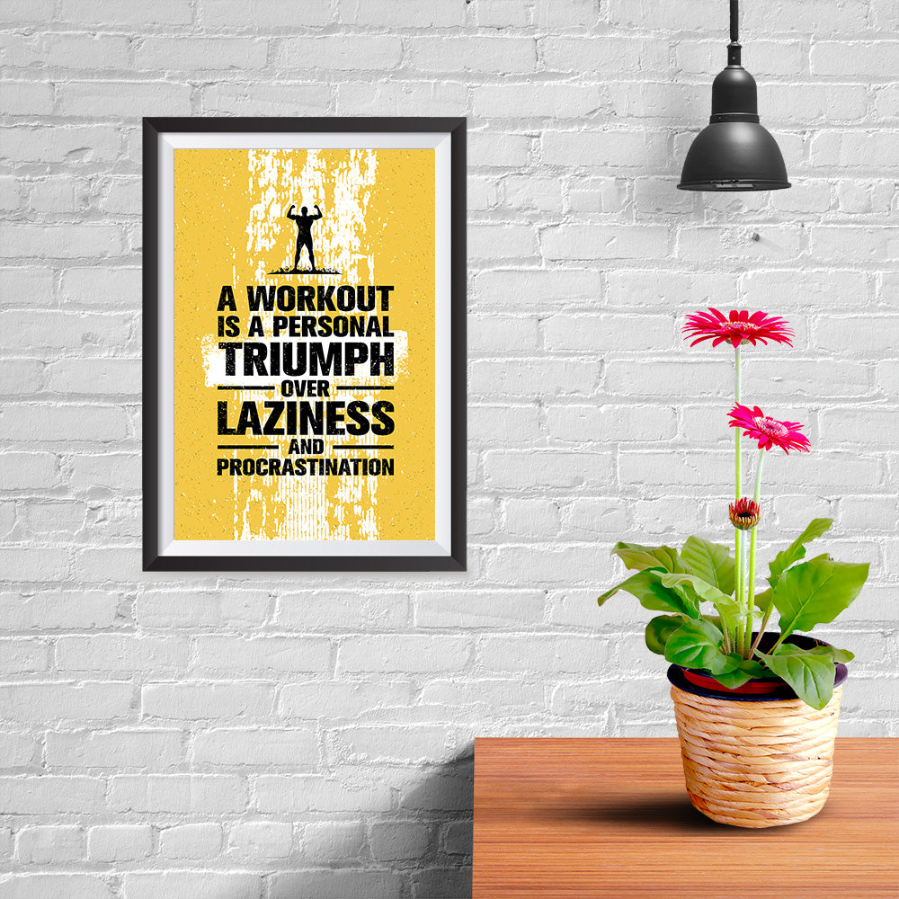 Ezposterprints - Laziness | Gym Inspiration Motivation Quotes - 08x12 ambiance display photo sample