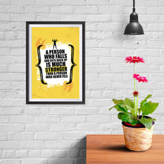 Ezposterprints - Much Stronger | Gym Inspiration Motivation Quotes - 08x12 ambiance display photo sample