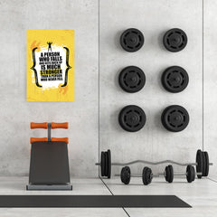 Ezposterprints - Much Stronger | Gym Inspiration Motivation Quotes - 24x36 ambiance display photo sample