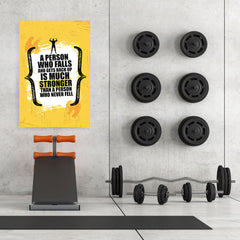 Ezposterprints - Much Stronger | Gym Inspiration Motivation Quotes - 32x48 ambiance display photo sample