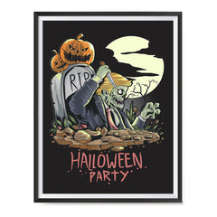 Ezposterprints - Very Very Scary Party Halloween Poster ambiance display photo sample