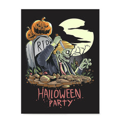 Ezposterprints - Very Very Scary Party Halloween Poster