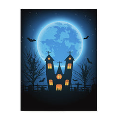 Ezposterprints - Under the Blue Moon Halloween Poster