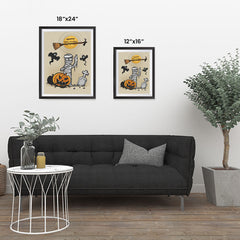 Ezposterprints - Mummy and the Broom Halloween Poster ambiance display photo sample