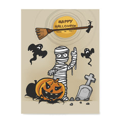 Ezposterprints - Mummy and the Broom Halloween Poster