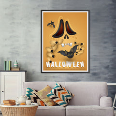 Ezposterprints - Not So Scary Movie Halloween Poster - 36x48 ambiance display photo sample