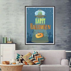 Ezposterprints - They're Out There Halloween Poster - 36x48 ambiance display photo sample