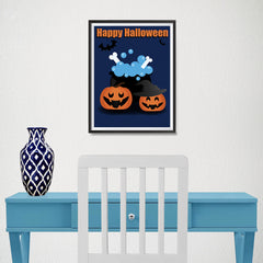 Ezposterprints - Happy Pumpkin Witches Halloween Poster - 12x16 ambiance display photo sample
