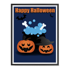 Ezposterprints - Happy Pumpkin Witches Halloween Poster ambiance display photo sample