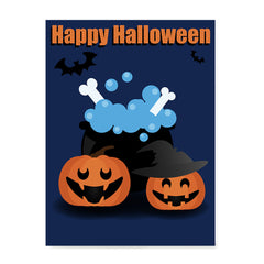 Ezposterprints - Happy Pumpkin Witches Halloween Poster