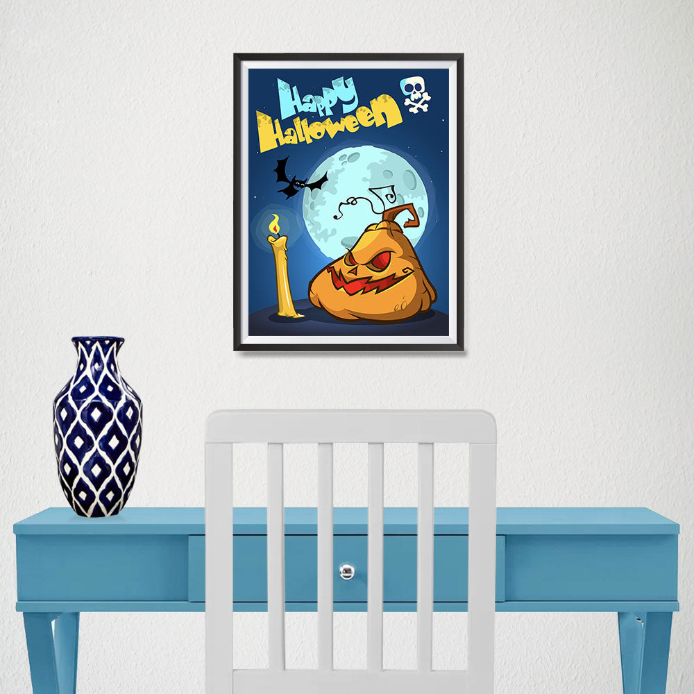 Ezposterprints - Jabba the Pumpkin Halloween Poster - 12x16 ambiance display photo sample