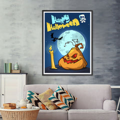 Ezposterprints - Jabba the Pumpkin Halloween Poster - 36x48 ambiance display photo sample