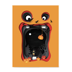 Ezposterprints - Paper Ornament Halloween Poster