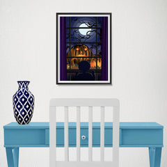 Ezposterprints - Sad Pumpkins Out There Halloween Poster - 12x16 ambiance display photo sample