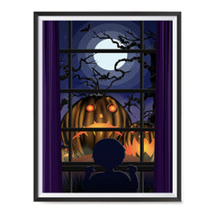 Ezposterprints - Sad Pumpkins Out There Halloween Poster ambiance display photo sample