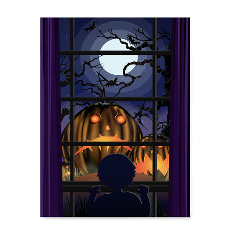 Ezposterprints - Sad Pumpkins Out There Halloween Poster