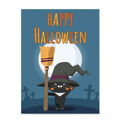 Ezposterprints - Happy Kitten Halloween Halloween Poster