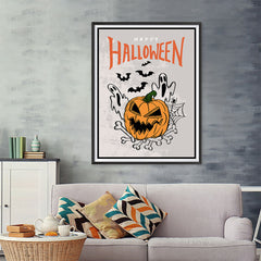 Ezposterprints - The Ghosts and The Bad Boss Pumpkin Halloween Poster - 36x48 ambiance display photo sample