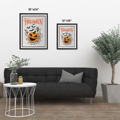 Ezposterprints - The Ghosts and The Bad Boss Pumpkin Halloween Poster ambiance display photo sample