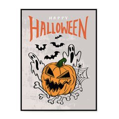 Ezposterprints - The Ghosts and The Bad Boss Pumpkin Halloween Poster