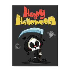Ezposterprints - The Cute Reaper Halloween Poster