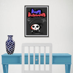 Ezposterprints - The Cute Reaper 2 Halloween Poster - 12x16 ambiance display photo sample