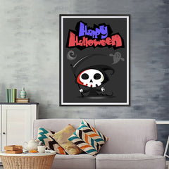 Ezposterprints - The Cute Reaper 2 Halloween Poster - 36x48 ambiance display photo sample