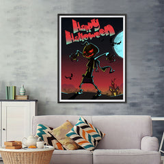 Ezposterprints - The Pumpkin Gone Crazy Halloween Poster - 36x48 ambiance display photo sample