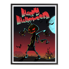 Ezposterprints - The Pumpkin Gone Crazy Halloween Poster ambiance display photo sample