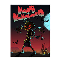 Ezposterprints - The Pumpkin Gone Crazy Halloween Poster